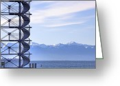 Backlight Greeting Cards - Lake Constance Friedrichshafen Greeting Card by Joana Kruse