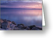Outdoor Greeting Cards - Lake Constance Greeting Card by Silke Magino