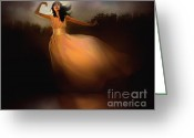 Pinkish Greeting Cards - Lake Dancer Greeting Card by Robert Foster