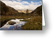 Pond Reflection Greeting Cards - Lake District Reflections Greeting Card by Justin Albrecht