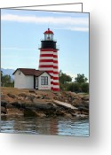 "\""small House\\\"" Greeting Cards - Lake Havasu Lighthouse Greeting Card by Kristin Elmquist"