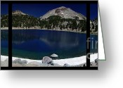 Polyptych Greeting Cards - Lake Helen at Mt Lassen Triptych Greeting Card by Peter Piatt
