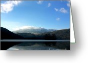 Mountain Range Greeting Cards - Lake in Auvergne Greeting Card by Bernard Jaubert