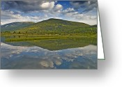 Western Sky Greeting Cards - Lake in the Colorado Rocky Mountains Greeting Card by Brendan Reals