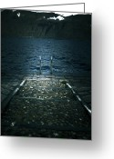 Quay Greeting Cards - Lake In The Winter Greeting Card by Joana Kruse