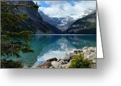Rocky Mountains Greeting Cards - Lake Louise 2 Greeting Card by Larry Ricker