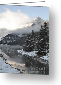 Rocky Mountain National Park Greeting Cards Greeting Cards - Lake Louise Beauty Greeting Card by Andrea Hazel Ihlefeld