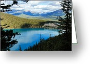 Canadian Rockies Greeting Cards - Lake Louise Chalet Greeting Card by Larry Ricker