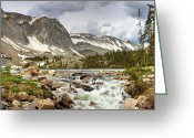 Snowy Range Greeting Cards - Lake Marie Greeting Card by N D Finer