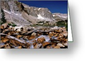Snowy Range Greeting Cards - Lake Marie Snowy Range Greeting Card by Ed  Riche
