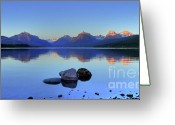 Lake Mcdonald Greeting Cards - Lake McDonald Greeting Card by Dave Hampton Photography