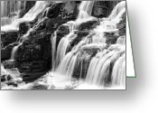 Lake Mcdonald Greeting Cards - Lake McDonald Falls Greeting Card by Rich Franco