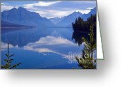Lake Mcdonald Greeting Cards - Lake McDonald II Greeting Card by Scott Hansen