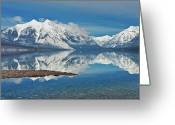 Glacier Greeting Cards - Lake Mcdonald Greeting Card by Mark Shaiken - Photography