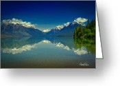 Lake Mcdonald Greeting Cards - Lake McDonald Mirror Greeting Card by Patrick Quinn