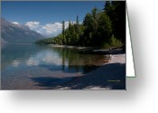 Glacier Greeting Cards - Lake McDonald Montana Greeting Card by Tom Buchanan