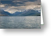 Lake Mcdonald Greeting Cards - Lake McDonald Panorama Greeting Card by Greg Nyquist