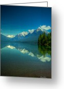 Lake Mcdonald Greeting Cards - Lake McDonald Greeting Card by Patrick Quinn