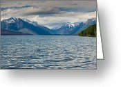 Lake Mcdonald Greeting Cards - Lake McDonald upon Storm Clearing Greeting Card by Greg Nyquist