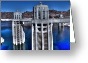 Dam Greeting Cards - Lake Mead Hoover Dam Greeting Card by Jonathan Davison