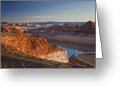 Damn Greeting Cards - Lake Mead Greeting Card by Joel P Black