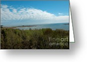 Fall River Scenes Greeting Cards - Lake Michigan Shore line from the UP 2 Greeting Card by LeeAnn McLaneGoetz McLaneGoetzStudioLLCcom