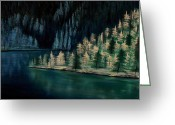 Copyright Protected. Greeting Cards - Lake of the Woods Greeting Card by Barbara St Jean