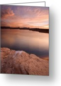 Reflection Greeting Cards - Lake Powell Dawn Greeting Card by Mike  Dawson
