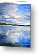 Dusk Greeting Cards - Lake reflecting sky Greeting Card by Elena Elisseeva