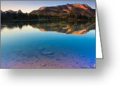 Fault Block Greeting Cards - Lake Reflections Greeting Card by Paul Gana