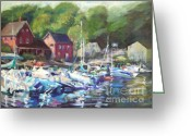 Quality Greeting Cards - Lake Sunapee Harbor Greeting Card by B Rossitto