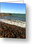 Great Point Greeting Cards - Lake Superior at Whitefish Point Greeting Card by Michelle Calkins