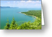 Above Greeting Cards - Lake Superior Greeting Card by Elena Elisseeva