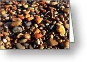 Pebbles Greeting Cards - Lake Superior Stones Greeting Card by Michelle Calkins