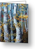 Shelton Greeting Cards - Lake Tahoe Aspens Greeting Card by Cynara Shelton