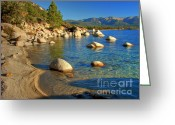 Hiking Greeting Cards - Lake Tahoe Tranquility Greeting Card by Scott McGuire