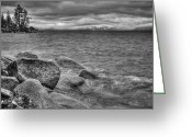 Winter Storm Photo Greeting Cards - Lake Tahoe Winter Storm Greeting Card by Scott McGuire