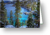 Village Greeting Cards - Lake Tahoe Winterscape Greeting Card by Scott McGuire