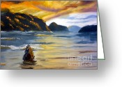 Pamela Meredith Greeting Cards - Lake Wahatipu Queenstown NZ Greeting Card by Pamela  Meredith