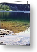 Mt. Washington Greeting Cards - Lake Washington  Greeting Card by Robert Meanor