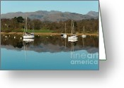 Hare Greeting Cards - Lake Windermere Yachts Greeting Card by John D Hare