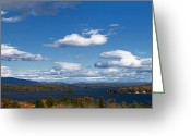 Nh Greeting Cards - Lake Winnipesaukee New Hampshire in Autumn Greeting Card by Stephanie McDowell