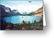 Photorealism Greeting Cards - Lakes Inside Greeting Card by Don Evans