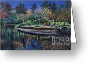 Lakes Pastels Greeting Cards - Lakes of the Dike 1 Greeting Card by Jim Barber Hove