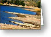 Lanscape Photo Greeting Cards - Lakeshore Greeting Card by Elizabeth Hoskinson