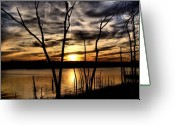 Value Greeting Cards - Lakeside View Greeting Card by Karen M Scovill