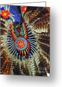 Lakota Greeting Cards - Lakota Feather Dance Greeting Card by Elizabeth Hoskinson