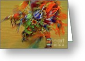 Lakota Greeting Cards - Lakota Feather Dancer Greeting Card by Elizabeth Hoskinson