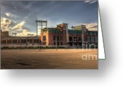 Football Photo Greeting Cards - Lambeau Field Greeting Card by Joel Witmeyer