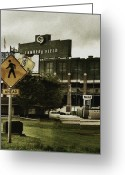 Photograph Greeting Cards - Lambeau Field Greeting Card by Michelle Calkins